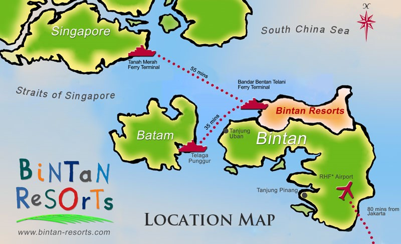 Bintan Resort location map